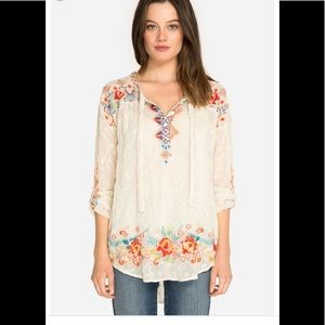 NWT JOHNNY WAS Gina Blouse Size MED $278 STUNNING!